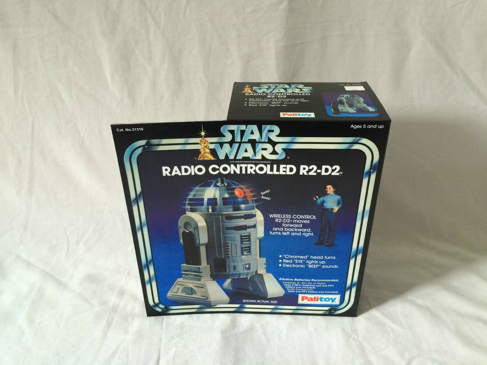 Replacement vintage star wars palitoy radio controlled r2-d2 box