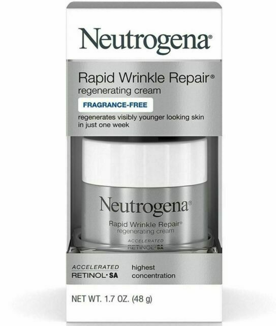 Neutrogena Rapid Wrinkle Repair Cream Fragrance Free 1.7 oz