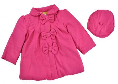 Penelope Mack Girls Rasberry Part Wool Jacket W//Hat Size 5 6