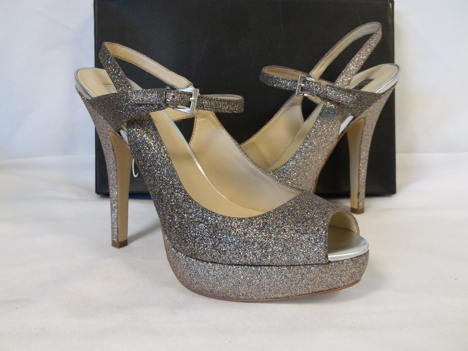 INC International Concepts 10 M Mariel Multi Open Toe Heels New Womens shoes