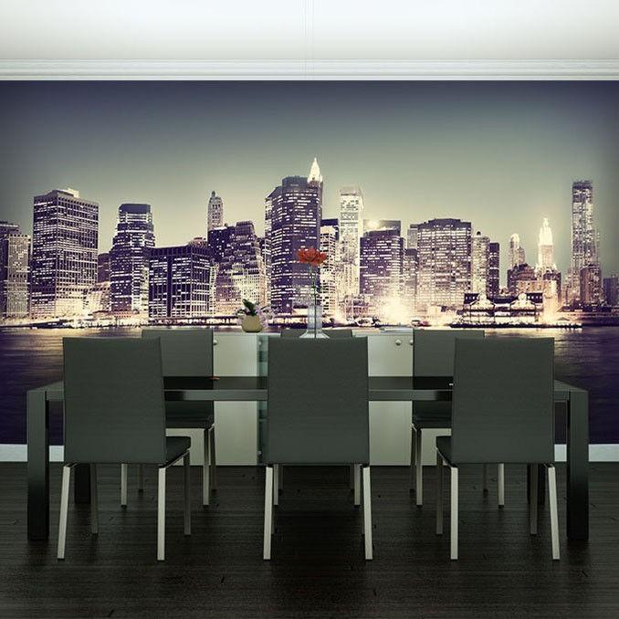 Papier peint toile dans la grande ville-papier peint  papiers peints   peint pour salon fdb175 f46e53