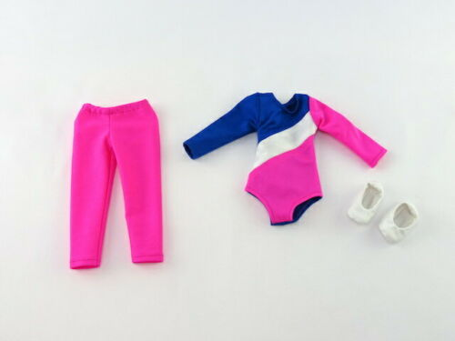 """Hot Pink 3pc Gymnastics Pant Set Fits Wellie Wisher 14.5/"""" American Girl Clothes"""