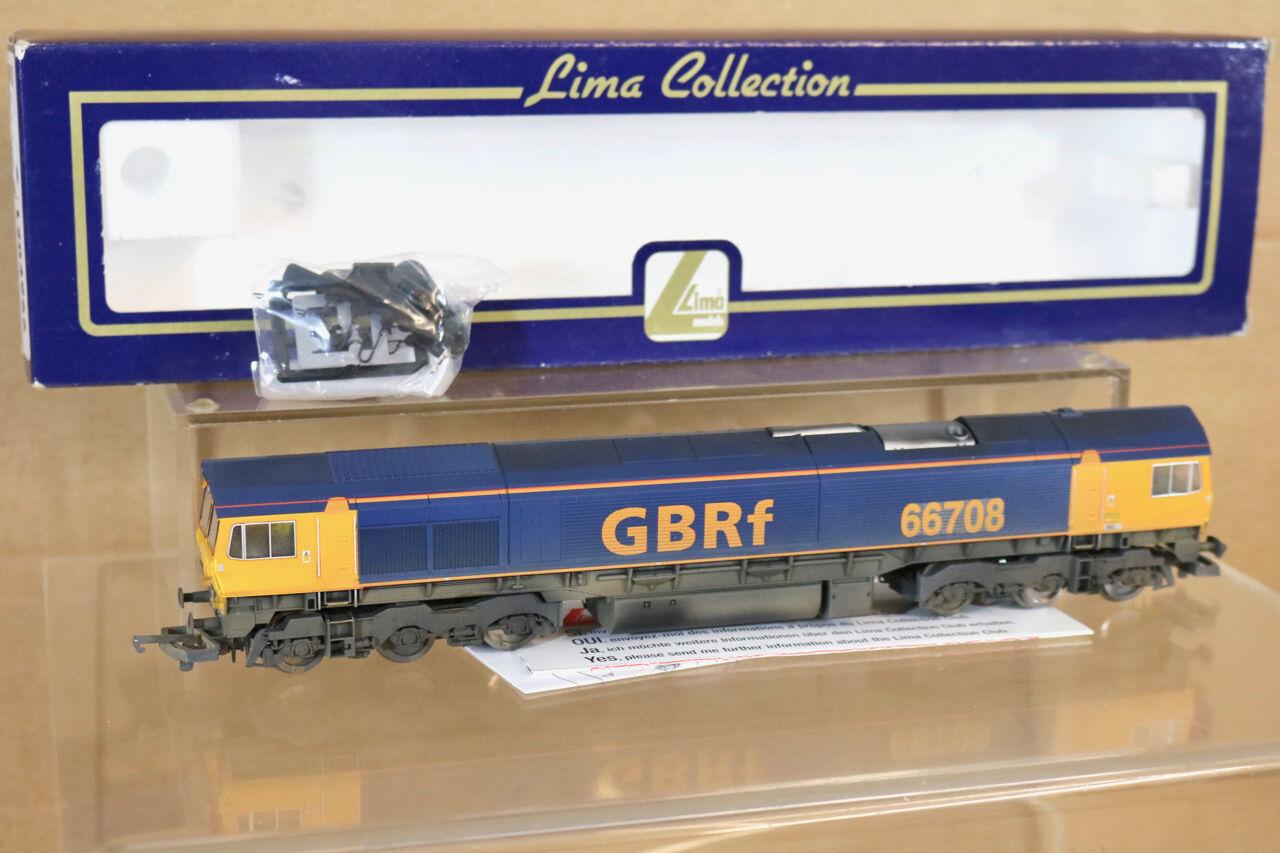 LIMA 204966 RENUMBErosso WEATHErosso GBRf CLASS 66 LOCO 66708 BOXED nj