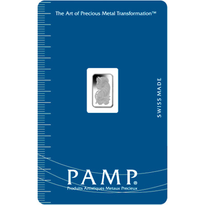 1 gram Pamp Palladium Bar Lady Fortuna .9995 Pd Suisse Sealed Assay