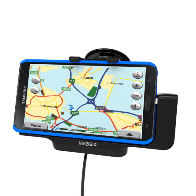 100% ORIGINAL IMOBI4 Car Mount Holder With USB Charger for Samsung Galaxy Note3