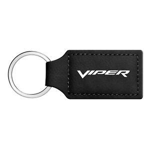 Dodge Charger Rectangular Black Leather Key Chain Key-Ring
