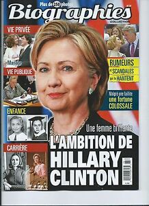 HILLARY-CLINTON-63-PAGES-FRENCH-BIOGRAPHIES-2016-250-PHOTOS-COLLECTION
