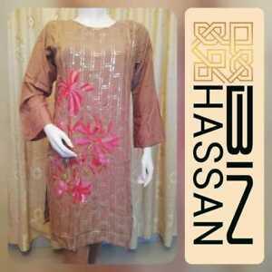 Linen Suit  Embroidered stitched Pakistani Indian salwar kameez EID Sale £20