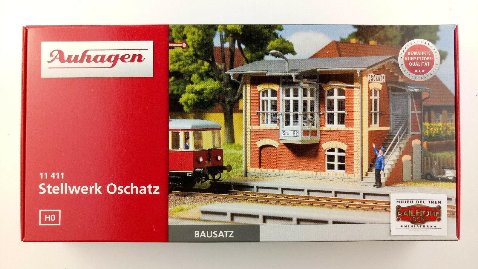 AUHAGEN H0 11411 - STELLWERK OSCHATZ - NEW - N GAUGE BUILDING KIT BOXED ORIGINAL