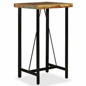 Tavolo Alto Bar Legno.Dettagli Su Vidaxl Tavolino Da Bar In Legno Massello Di Recupero Tavolo Alto Angolo Cucina