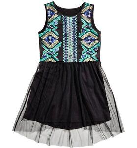 OA Tüll Kleid Gr.134 /140 H&M NEU schwarz grün blau ...