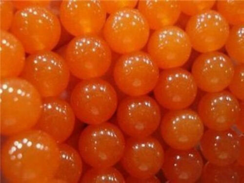 "8mm Orange Topaz Jade Stones Loose Beads 15/"" 2018"