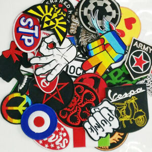 24 Pcs Mixed Random Iron On Patches For Clothing Sweater T-Shirt Thermal Appliqu