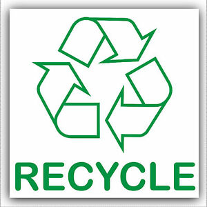 1x Recycle Sticker Recycle Logo Sign Recycling Waste Cans Paper