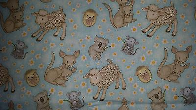 Brand New Australian Animal Print Fabric - 16cm x 112cm
