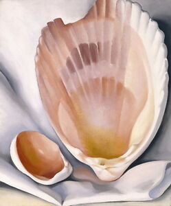 Georgia-O-039-Keeffe-Two-Pink-Shells-Canvas-Print-Paintings-Poster-Reproduction-Copy