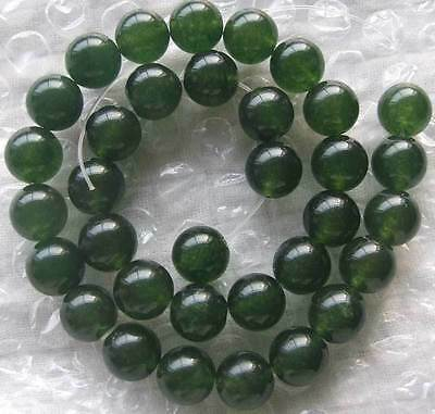6mm 8mm 10mm 12mm 14mm 16mm Green jade Round Beads 15 ""