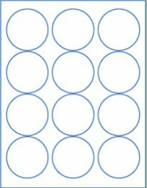 "(600 labels) 2-1/2"" round blank white stickers circle 2.5"" matte, made in USA"