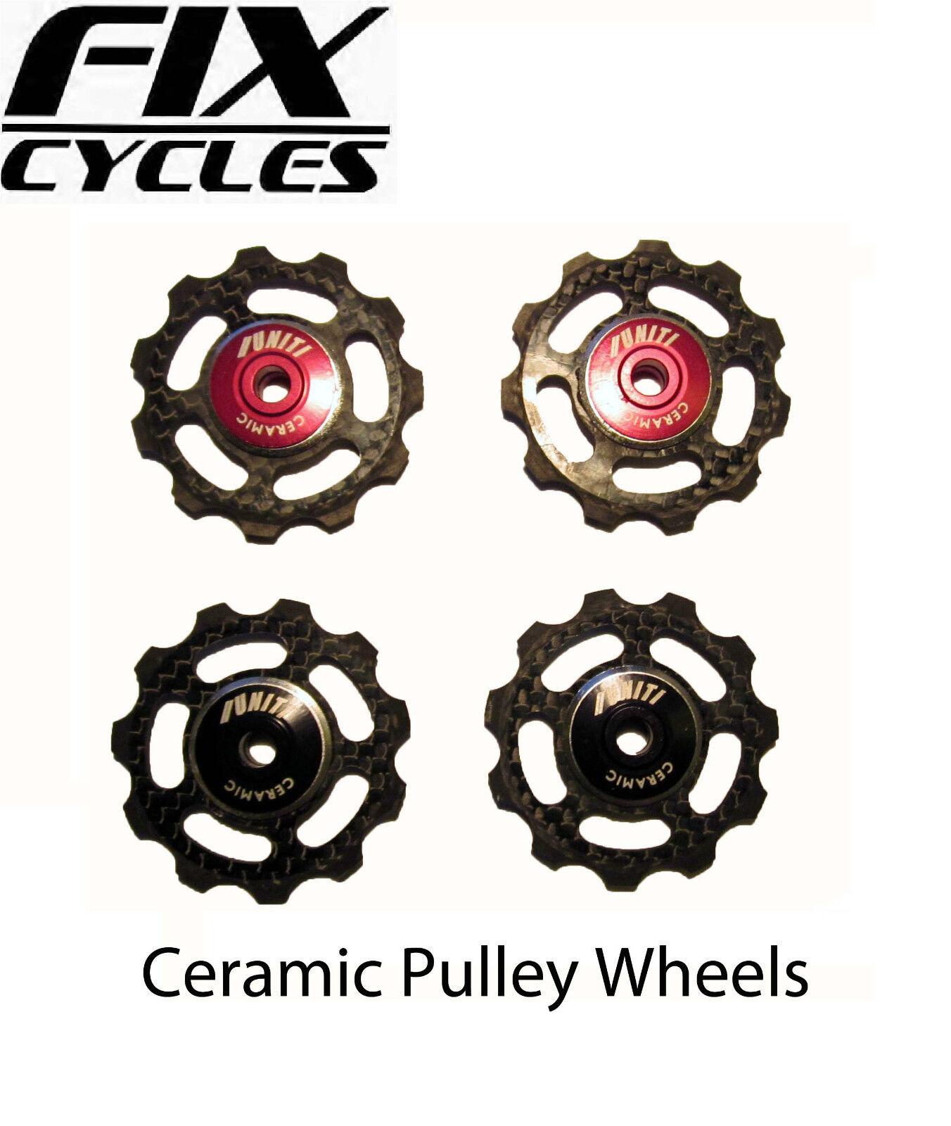 Uniti fibra de carbon ruedas con  Cerámica spool - 6,5g cada uno  for sale