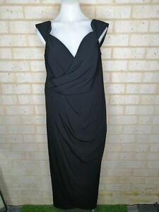 CITY-CHIC-size-XS-black-off-the-shoulder-dress-midi-length