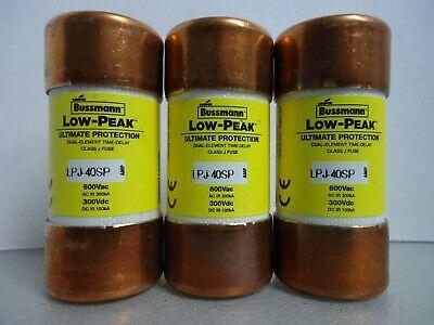 BUSSMANN LPJ-40SP Low-Peak Dual Element Delay Fuse 40 Amp 600 Vac USA Seller