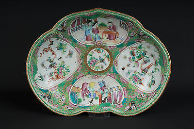 Qing Schale Jh Chinois A Chinese Canton Porcelain Dessert Dish Freundschaftlich China 19