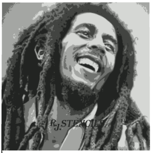 Multicouche Step by Step AIRBRUSH STENCIL Bob Marley