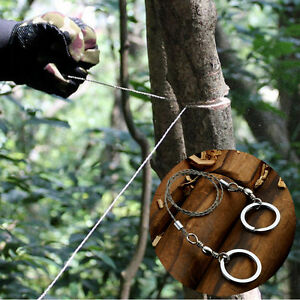Outdoor-Emergency-Survival-Gear-Steel-Wire-Saw-Camping-Hiking-Climbing-Tools