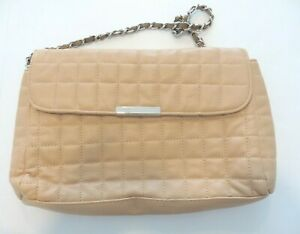 SACATINI-Quilted-Pattern-Tan-Purse-Magnetic-Clasp-Chain-Handle-m