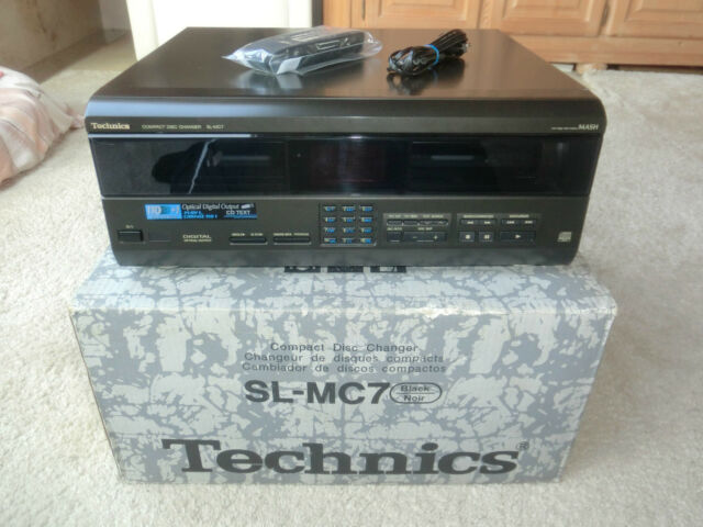 TECHNICS sl-mc7 110-Raccoglitore CD-wechlser, in scatola originale, come nuovo, 2 ANNI GARANZIA