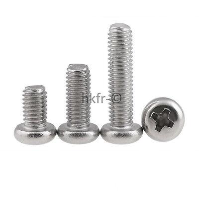 60 pièces vis DIN 7985 avec cruciforme m1 4 Acier Inoxydable a2
