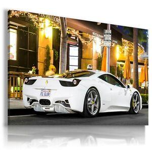 FERRARI ITALIA WHITE Super Sport Cars Large Wall Art Canvas Picture A209 MATAGA
