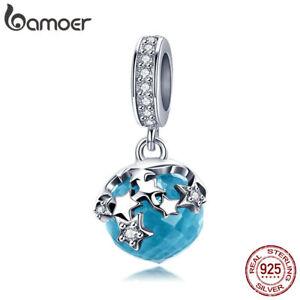 BAMOER-Starlight-S925-Sterling-Silver-Charm-With-Blue-Glass-dangle-Fit-bracelet