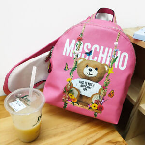 Sac Jouet Rose Moschino Dos À Ours n8t006x
