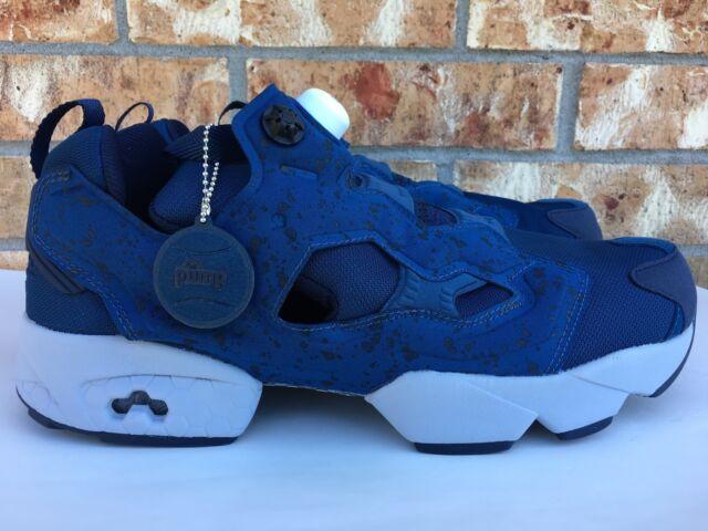 76891c0b8da085 Men s Reebok Insta Pump Fury SP Noble Blue Grey Casual Shoes Sneakers AQ9800