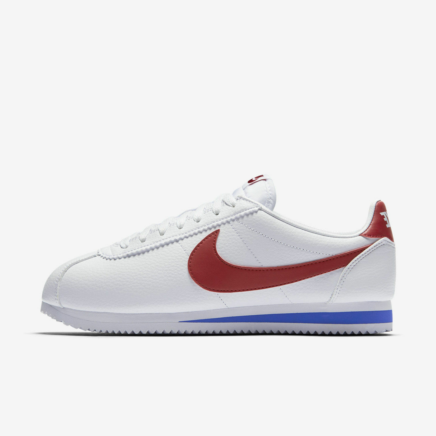 Nike Classic Cortez Leather FORREST GUMP size 749571-154 White red Men size GUMP 8-13 3c33f9