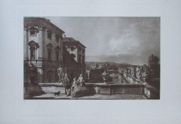 Aktiv Das Fürstlich Liechtensteinsche Gartenpalais - Kupfertiefdruck 1923 Canaletto Guter Geschmack