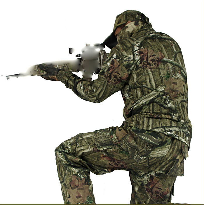 Outdoor Tactical Camouflage Hunting /Set Ghillie Suit Set  Shirt Pants Cap 3PCS /Set Hunting 40788a