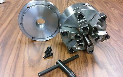 """6/"""" 3-Jaw ReversibleJaw Chuck W.1-1//2 x 8 Adapter"""