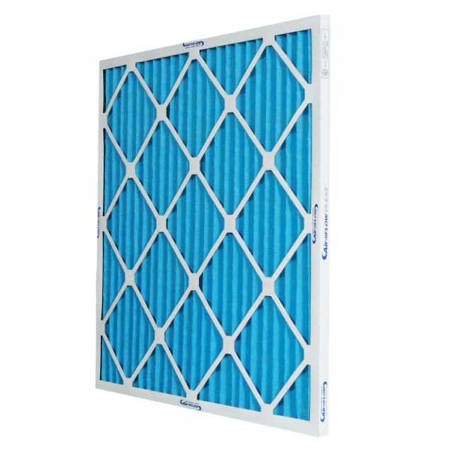 9 Pack Synthetic Wire-Backed Pleated Air Filter Made in USA 24 Nom Height x 24 Nom Width x 1 Nom Depth