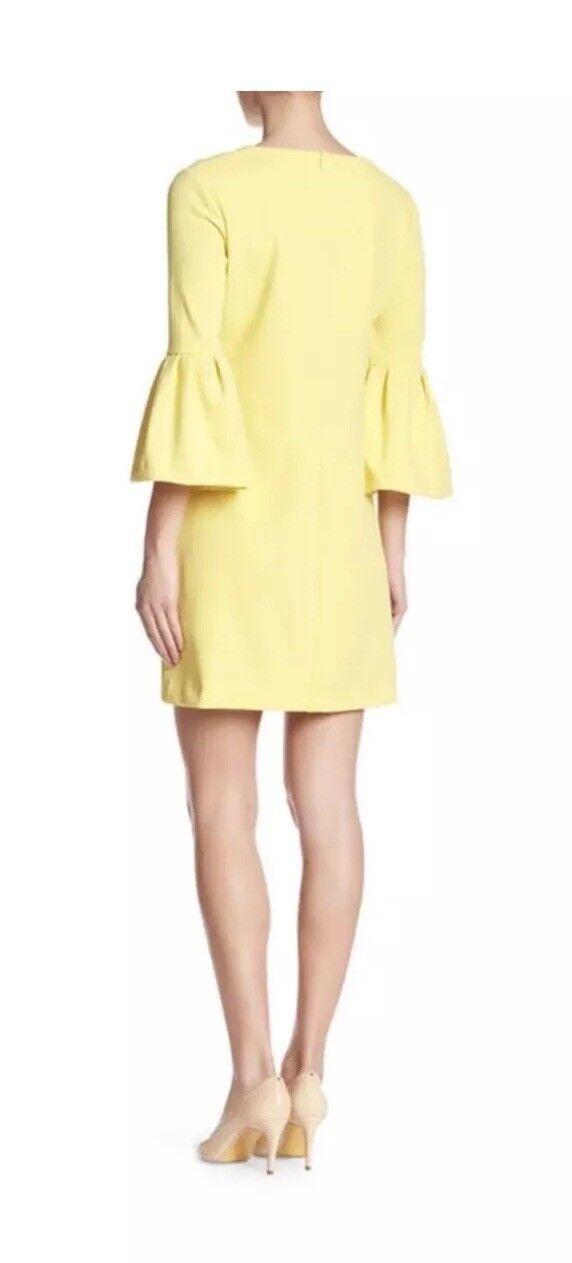 NWOT women Morgan Bell Sleeve Shift Dress in Sunny Yellow Size 0