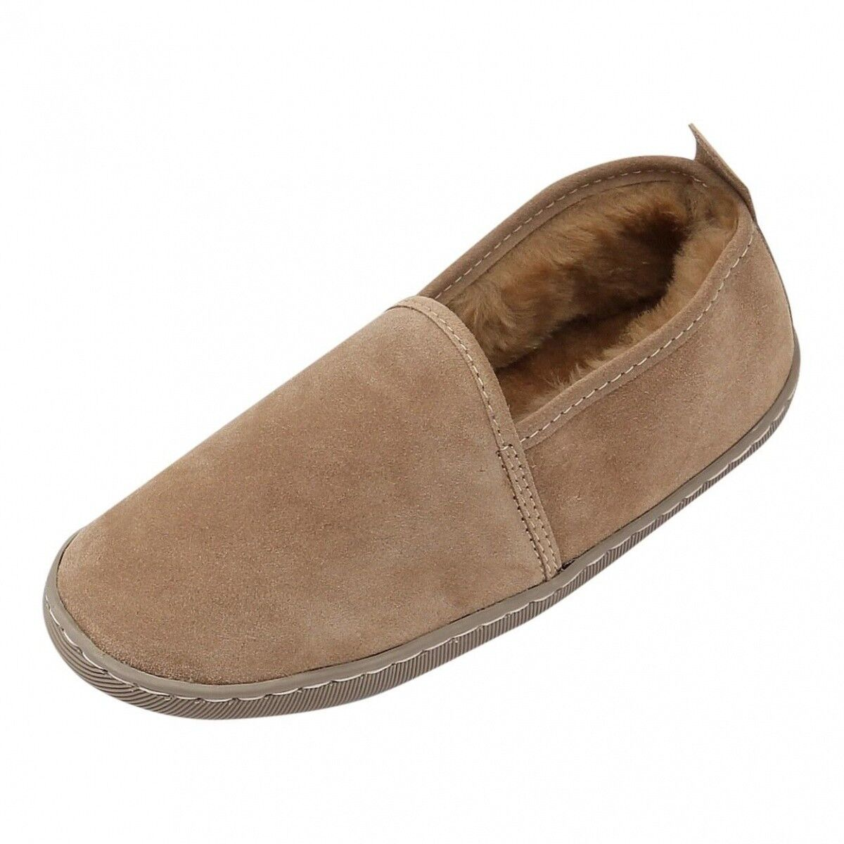 Lamb Wool House shoes - Hubert Unisex fur shoes Genuine Merino fur and Leather