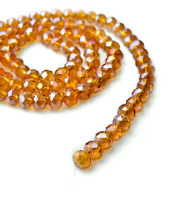 Hot-100pc-Beautiful-6mm-Crystal-Loose-Beads-DIY-Jewelry-Yellow