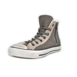 50% Converse Chuck Taylor side zip grigio interno in lana Unisex ...