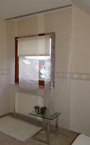 Vlies-Flaechenvorhang-Paneel-Lurexfaden-60x245cm-weiss-silber-oder-creme-gold