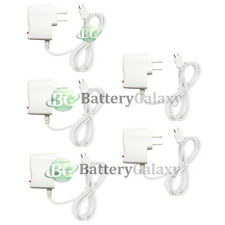 5 White Micro USB Battery Wall Charger for LG Optimus Zone 3 Stylo 2 Tribute 5