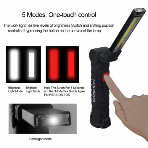 COB LED KFZ Arbeitsleuchte Akku Werkstattlampe Taschenlampe Handlampe mit Magnet