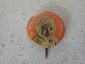 United-Nations-Appeal-For-Children-Tin-Badge