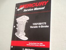 mercury verado service manual 90 897928100 135 150 175hp specs rh ebay com 2006 mercury verado 150 owners manual 2005 Mercury Verado 250