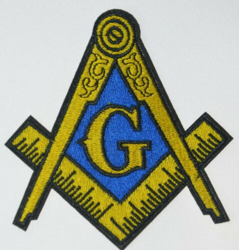 Masonic Square Compass Emblem Embroidered Iron Sew On Patch Freemason Mason Logo
